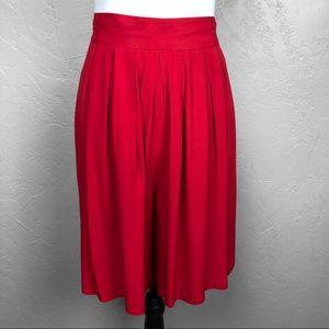 Vintage 80s Red Shorts Culottes